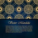 Kaarten of uitnodigingen met mandalapatroon Royalty-vrije Stock Foto's