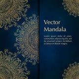 Kaarten of uitnodigingen met mandalapatroon Royalty-vrije Stock Afbeelding