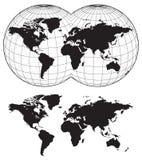 Kaarten van de wereld Stock Afbeeldingen