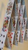 Kaartenhuis Royalty-vrije Stock Fotografie