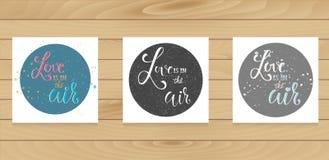 Kaartenmalplaatje met kalligrafietekens in cirkels Stock Foto