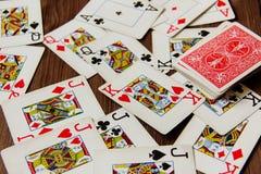 Kaartenspel Royalty-vrije Stock Afbeeldingen