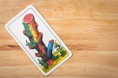 Kaartenspel houten Ace Royalty-vrije Stock Afbeelding