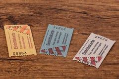 kaartjes stock foto