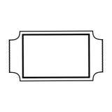 Kaartjesbioskoop geïsoleerd pictogram Royalty-vrije Stock Afbeeldingen