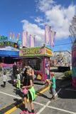Kaartjescabine in Carnaval Stock Foto's