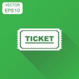 Kaartjespictogram Het bedrijfsconcept laat één kaartjespictogram toe Vector Royalty-vrije Stock Afbeelding