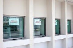 Kaartjesteller bij Pernambuco-Arena in Recife Brazilië stock foto