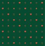 Kaartkostuums in Gouden Rim Seamless Pattern Stock Foto
