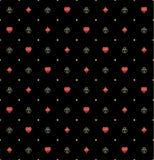 Kaartkostuums in Gouden Rim Seamless Pattern Royalty-vrije Stock Foto