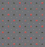Kaartkostuums in Gouden Rim Seamless Pattern Stock Afbeelding
