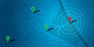 Kaartnavigatie met tellers Stock Afbeelding