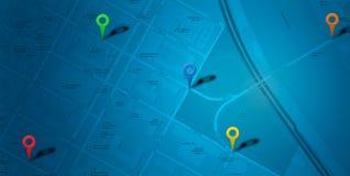 Kaartnavigatie met tellers Royalty-vrije Stock Foto