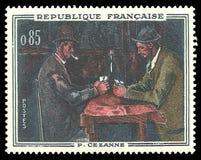 Kaartspelers door Paul Cezanne stock foto