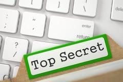 Kaartsysteem met Bovenkant - geheim 3d Stock Afbeelding