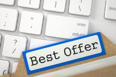 Kaartsysteem met Inschrijvings Beste Aanbieding 3d Stock Foto's