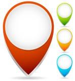 Kaartteller, Kaart Pin Graphics royalty-vrije illustratie