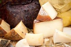 Kaas bij een markt Stock Afbeelding