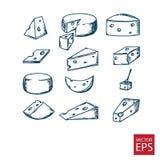 Kaas in de stijl van krabbel Royalty-vrije Stock Foto's