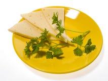 Kaas een plaat Stock Foto's