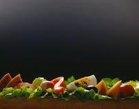 Kaas, ei en gemengde plantaardige sandwich Stock Afbeelding