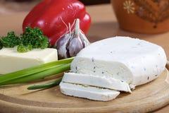 Kaas en boter Royalty-vrije Stock Fotografie