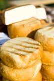 Kaas en cheddar Stock Afbeelding