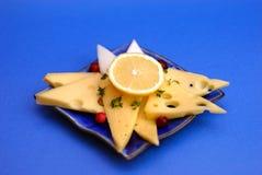 Kaas en citroen Stock Afbeelding