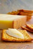 Kaas en crackers Stock Fotografie