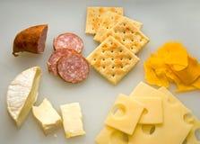 Kaas en Crackers - 3 Royalty-vrije Stock Fotografie