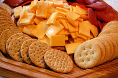 Kaas en crackers Stock Foto's
