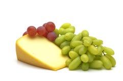 Kaas en druif Royalty-vrije Stock Foto's