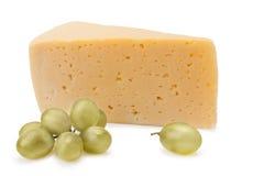 Kaas en druiven Stock Afbeeldingen