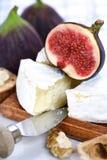 Kaas en fig. royalty-vrije stock afbeelding
