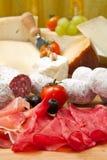 Kaas en fijne vleeswaren Royalty-vrije Stock Foto's