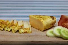 Kaas en groenten Royalty-vrije Stock Foto's