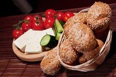 Kaas en groenten Royalty-vrije Stock Afbeeldingen