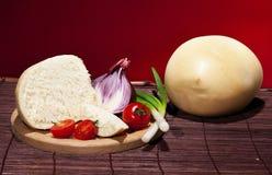 Kaas en groenten Stock Afbeelding