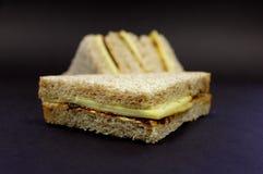 Kaas en groenten in het zuursandwich Royalty-vrije Stock Afbeeldingen