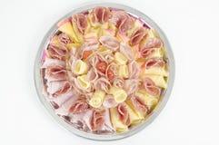 Kaas en Ham Stock Afbeeldingen