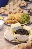 Kaas en koekjes Royalty-vrije Stock Fotografie