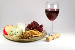 Kaas en Wijn Stock Foto's
