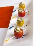 Kaas gevulde tomaat Stock Foto