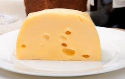 Kaas op een plaat Stock Foto