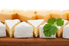 Kaas op houten raad Royalty-vrije Stock Afbeeldingen