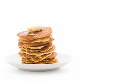 kaas op pannekoek met honing Royalty-vrije Stock Foto