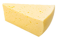 Kaas op witte achtergrond stock afbeeldingen