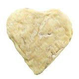 Kaas van de de vorm de beschimmelde geit van het hart die op wit wordt geïsoleerde Stock Foto's