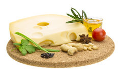 Kaas witn honing en noten Royalty-vrije Stock Afbeelding