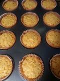 Kaasachtige kaas cupcakes stock afbeeldingen